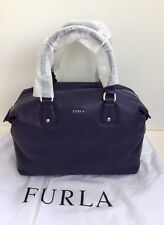 FURLA Raffaella L Notturno Purple Leather Large Hand Bag New with Tags