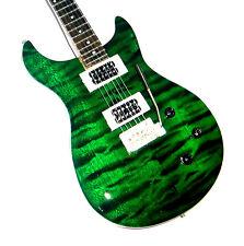 NEW Miniature Electric Guitar and stand Carlos Santana PRS Emerald Green