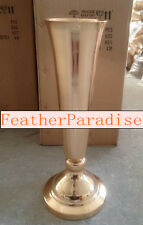 Gold Tall Vase 24 inchesTrumpet Vases Polished Metal Wedding Centerpiece Vases