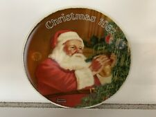 """Vintage Edwin M. Knowles 8 Inch Collector's Plate """"Christmas 1987�"""