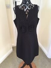 1960s Inspired Black Shift Dress Size 14 From Next