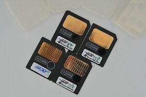4x SmartMedia 128MB smart media memory cards
