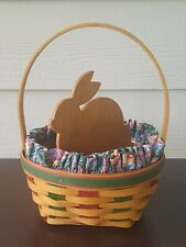 Longaberger 1999 Large Easter Basket w/ Liner, Protector and Bunny Divider