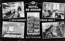 HOTEL DE KROON Restaurant & Snack Bar ROTTERDAM Netherlands ca 1940s Postcard