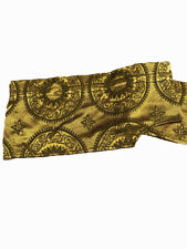 Antique French Damask Yellow Pelmet Swag