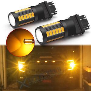 For Ford F150 F250 F350 Super Duty 33-SMD 3000K Turn Signal Light 3157 LED Bulbs