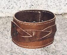 Leder Geflochtenes Armband Manschette Wristband Protector Biker Gothic Celtic feeanddave