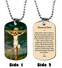 DOG TAG NECKLACE - Passion of Christ Prayer #1 Christian Religious God Jesus