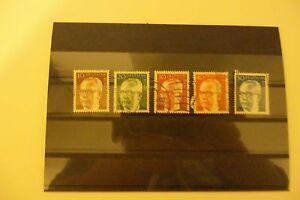 kleine Sammlung Bundespräsident Heinemann Briefmarken BRD Dauerserien gestempelt