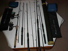 Large Lot Fresh Water Fishing Spinning Gear/2 new reels/5 new 2pc poles