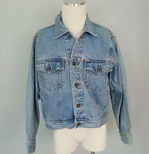 Vintage Large Denim EXPRESS Jean Trucker Jacket 100% cotton Size L Metal Buttons