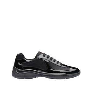 Prada Men's Patent leather and technical fabric sneakers SIZE 7.5 US / 5.5 UK