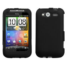 For Wildfire S CDMA, GSM Black Phone Protector Cover (Rubberized)