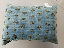 Pottery Barn Teen Emily & Meritt The Compass Star Beaded Pillow Blue #4399