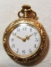 VINTAGE SMALL GOLD PLATED GUARENTEED 20 YEARS 118821 POCKETWATCH BEAUTIFUL CASE