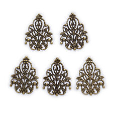 10 Bronze Tone Hollow Filigree Flower Findings Connnector Embellishments 25x35mm