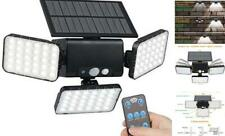 New listing Efiealls Remote Solar Lights Outdoor, 3 Head 90 Leds Security Solar Night Light