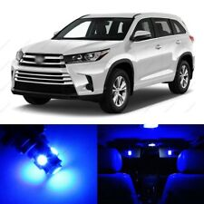 15 x Blue LED Interior Lights Package For 2014 - 2018 Toyota Highlander + TOOL
