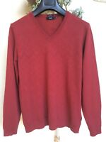 HUGO BOSS MAGLIA UOMO lana Rosso bordeaux sweaters knitwear jumpers pulover XL