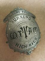 1900's BADGE Engraved  HIGH KICK Track & Field Running Award MEN'S OUTDOOR