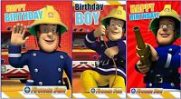 """Official Licensed """"FIREMAN SAM """" Birthday Cards ~ 3 Choices"""