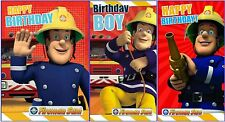 "Official Licensed ""FIREMAN SAM "" Birthday Cards ~ 3 Choices"