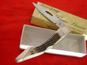 "Frost Cutlery Japan 4-1/8"" Game Skinner lockback Lock Blade Knife MIB"