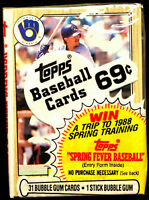 1987 Topps Baseball Cello Pack w/ ROBIN YOUNT.on top ~ A HALL OF FAME INDUCTEE