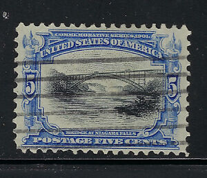 SCOTT 297 1901 5 CENT PAN-AMERICAN EXPOSITION ISSUE USED VF CAT $12!