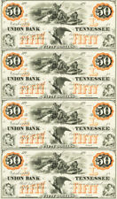 $50 Nashville Bank Tennessee Obsolete Currency Sheet REPRODUCTION Polar Bear