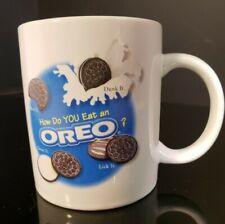 Vintage Oreo Cookie Nabisco Advertising Coffee Cup Mug White Nostalgia