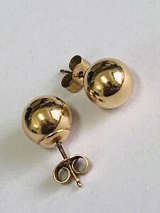 LOVELY 9CT YELLOW GOLD BOBBLE/BALL STUD EARRINGS