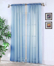 "Lovely Solid One Panel Sheer Curtain Window Drape 54"" x 84"" Long Rod Pocket"