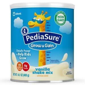 PediaSure Grow & Gain Nutrition Vanilla Shake Mix Cans 14.1 Oz, Brand New