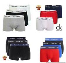 Calvin Klein Multi Color Tres Pack Troncos Algodón Elastizado Calzoncillos Boxer