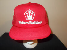 VTG-1980s Walters Buildings Pole Barns dairy horse cattle livestock hat sku16