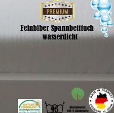 Feinbiber Spannbettlaken Matratzenschoner Wasserdicht 180 x 200
