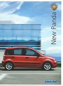 Fiat Panda UK Market Brochure Dec 2003 Includes Eleganza Dynamic & Active Models