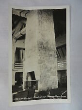 Vintage Rppc Giant Fireplace At Timberline Lodge In Government Camp Oregon