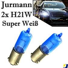 2x Jurmann H21W 12V Super Weiß Bremslicht Rückfahrlicht Blinker Halogen Birne