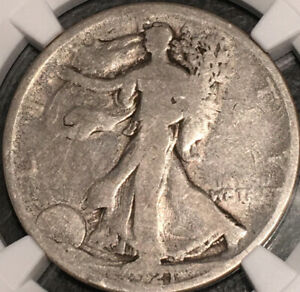 Scarce 1921 Walking Liberty Half Dollar, NGC Good 4