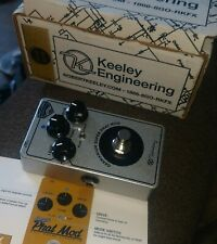 Keeley Germanium Super Phat Mod Overdrive  Limited Hand Built silver Edition