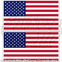 """USA United States of America Flag Vinyl Bumper Decals-Stickers 3"""" (75mm) x2"""