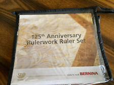 Bernina 125 Anniversary Rulerwork Ruler Set - Brand New
