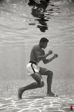 MUHAMMAD ALI BOXING UNDERWATER POSTER (61x91cm)  PICTURE PRINT NEW ART