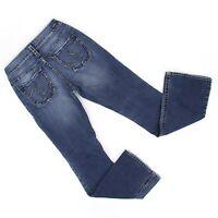 Silver Womens Suki Bootcut Denim Jeans Sz 27 x 32 (26 x 31) Dark Wash Boot Cut