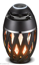 Luceco USB Rechargeable Bluetooth Speaker & LED Simulated Flame Effect Lamp IP65