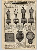 1940 PAPER AD New Haven 8 Day Spring Wind Wall Banjo Clock Girandole Colonial