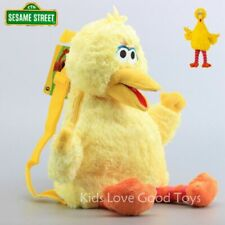 Sesame Street Big Bird Backpack Baby Kids Toddler Stuffed Toy Plush 3-D Bag 18''