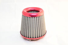 REZTON Stainless Steel Hi Performance Cone Air Filter RED - CLEARANCE